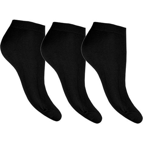 12 PAIRS MANS BLACK COTTON RICH BLACK SOCKS UK SIZE 6-11 EUR 39-45