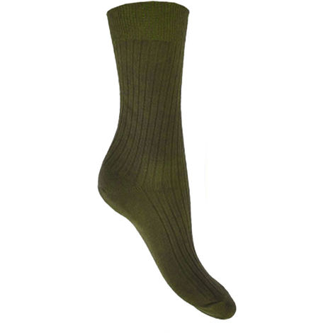 Socks Uwear - Mens Short 100% Cotton Ribbed Socks (Pack of 12)