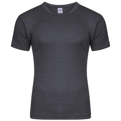 Socks Uwear Mens Thermal Short Sleeve T Shirt Vest (Pack of 3)