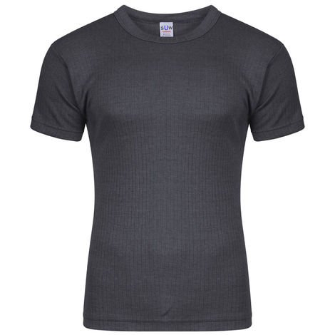 Socks Uwear Mens Thermal Short Sleeve T Shirt Vest (Pack of 6)