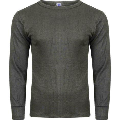 Socks Uwear Mens Winter Thermal Long Sleeve T Shirt (Pack of 4)