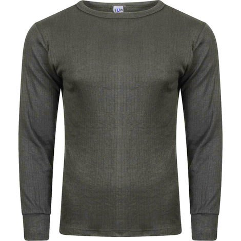 Socks Uwear Mens Winter Thermal Long Sleeve T Shirt (Pack of 6)