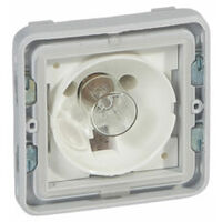 Socle avec voyant composable IP55 - Plexo - Gris et blanc - 069583 - Legrand