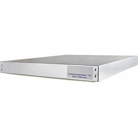 Socle chaudière dimensions -A- 600 x 650 x 70 mm