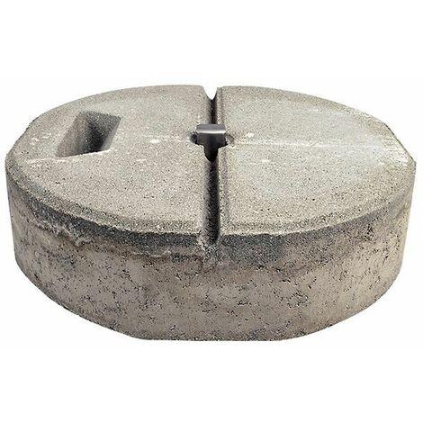 Socle de béton C45/55 avec cavité de prise plaque montée et cale
