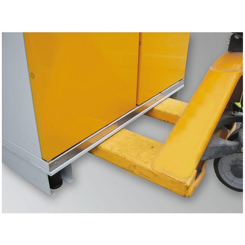 Certeo - Socle de manutention pour armoire - pour l x p 1550 x 1025 mm - pour armoire pour fûts