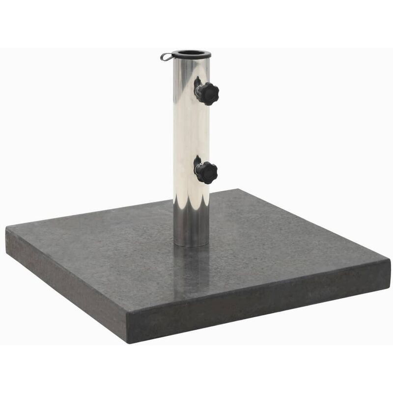 Socle de parasol Granite 30 kg Carré Noir