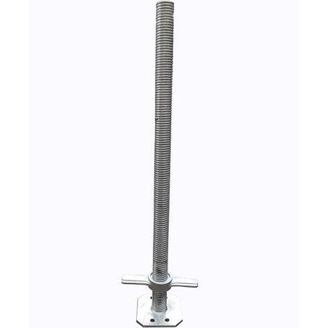 Socle d'échafaudage réglable Ø 34 mm - Hauteur 0,50 m