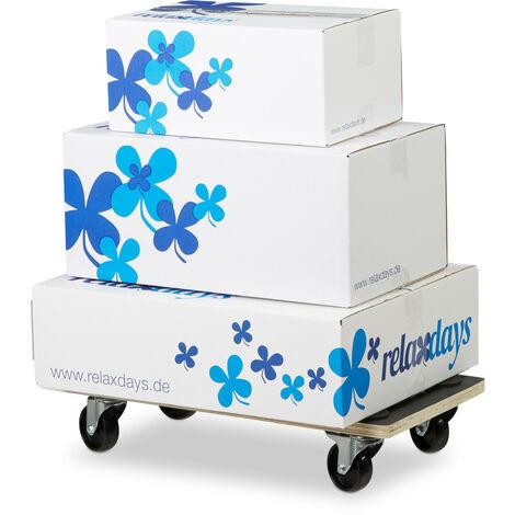 Socle roulant avec freins chariot à roulettes pour meubles jusqu'à 400 kg revêtement antidérapant HxlxP: 11,5 x 58 x 30 cm, noir
