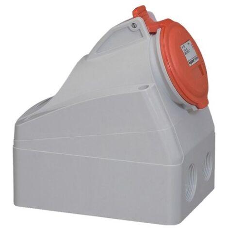Socle saillie P17 IP44 32A 380/415V 3P+N+T plastique