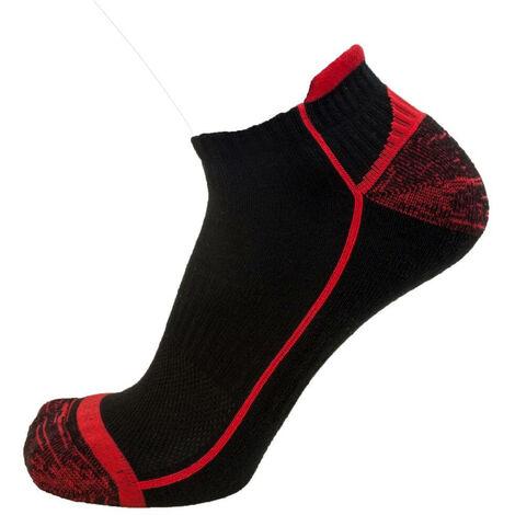 Socquettes de travail LMA POSEIDON (lot de 2 paires) Noir / Rouge