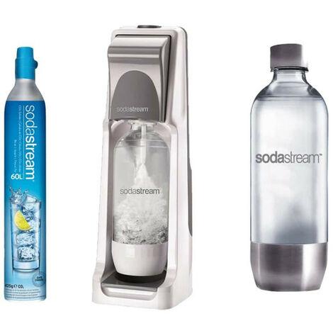 SODASTREAM Máquina de refrescos SODASTREAM Pack Cool Titan - PET Metal Base Botella 1L