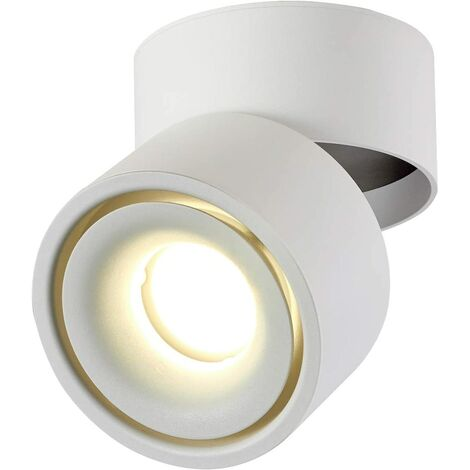 "main image of ""SOEKAVIA 10W LED Ceiling spotlights Ceiling light, Adjustable lamp body angle, Lamp spotlights, Ceiling spotlights, Ceiling wall light, adjustable ceiling spotlights, LED ceiling light, 10x10x10cm (white-4000K) [Energy class A +]"""