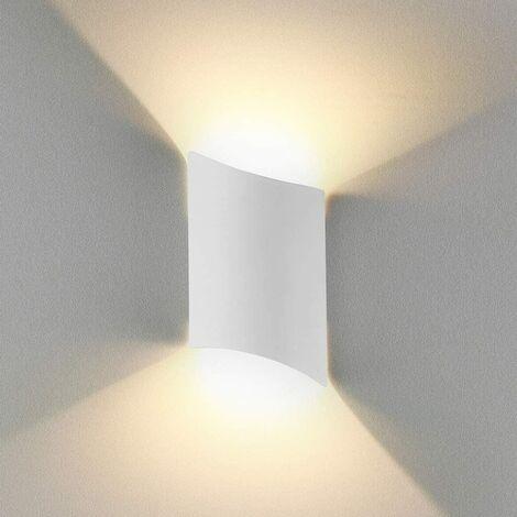 SOEKAVIA 16W Applique Murale led Intérieur exterieur Huat en bas Lampe murale LED Moderne Blanc chaud Imperméable IP65 Appliques Murales interieures en Aluminium pour Salon Escalier Couloir Chambre Jardin[Classe énergétique A++]