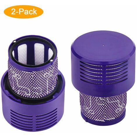 SOEKAVIA 2 pièces de rechange filtre pour aspirateur Dyson V10 SV12, accessoires de filtre lavable pour aspirateur robot Dyson V10 Cyclone Absolute / Animal / Total Clean / Motorhead, # DY-969082-01