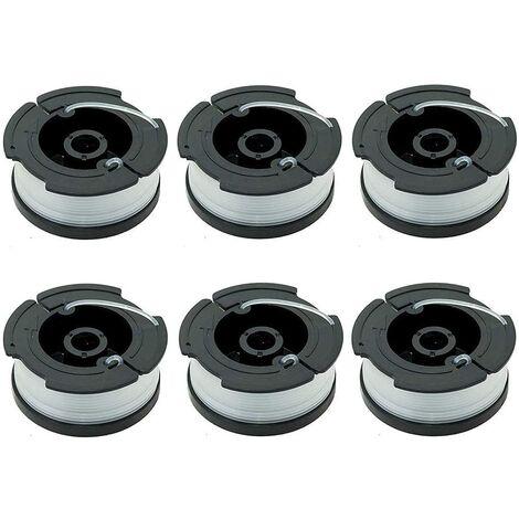 SOEKAVIA 6pcs Bobines pour Débroussailleuses Bobine de Fil pour Debroussailleuse 10 Mètres pour Black Decker Coupe Bordures