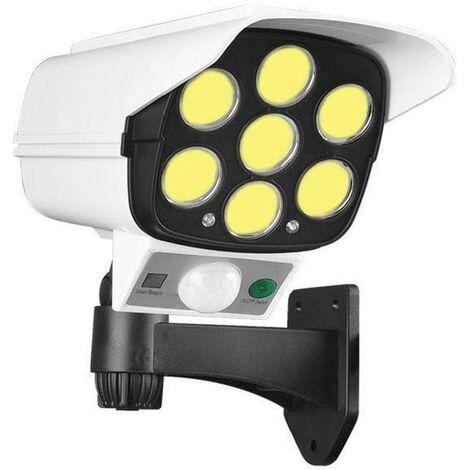 SOEKAVIA 77cob avec Simulation Surveillance Caméra Solaire Corps Humain Induction Jardin Lumière