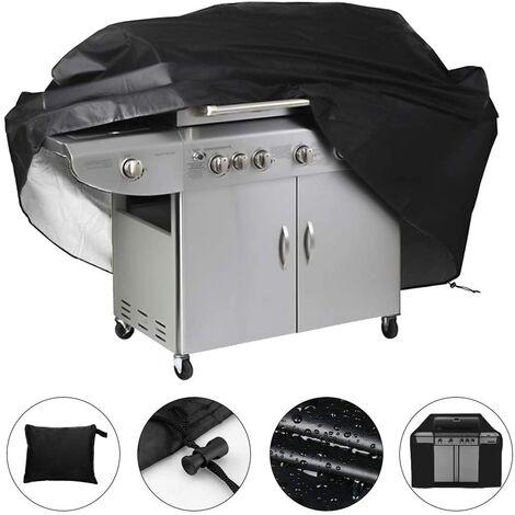 SOEKAVIA Bâche de protection étanche pour barbecue 145 x 61 x 117cm (Noir)