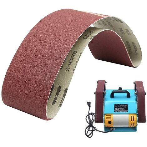 SOEKAVIA Bandes abrasives 100 mm x 915 mm – Ponceuse puissante en oxyde d'aluminium pour le travail du bois, ponceuse à bande, polissage du métal (5 pièces, grain 80)