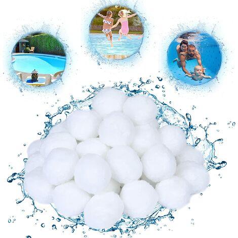 """main image of """"SOEKAVIA Billes filtrantes pour systèmes de filtration à sable Billes filtrantes 700g, remplacement de sable filtrant 25kg, billes filtrantes de piscine pour accessoires de piscine, pompe de piscine, nettoyage de piscine"""""""