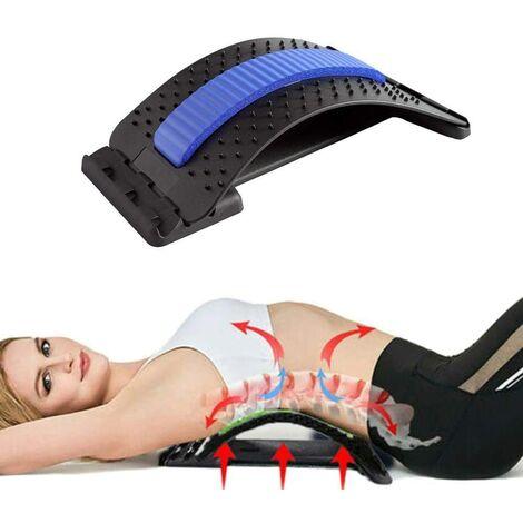 SOEKAVIA Brancard dorsal Brancard dorsal Entraîneur dorsal ergonomique Massage du dos Brancard de colonne vertébrale Contre les tensions et les maux de dos (noir et bleu)