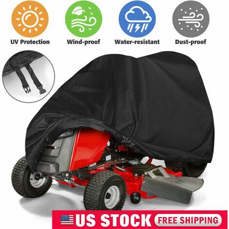 SOEKAVIA Couverture de protection de tondeuse à gazon Couverture de couverture de bâche de protection anti-UV imperméable