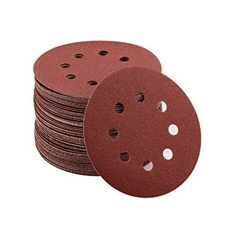 SOEKAVIA Disque de Ponçage 80pcs Disques Abrasifs 40/80/120/240/320/400/600/800 Grain Taille de 125mm Idéal pour Poncer/ Polir/ Dérouiller