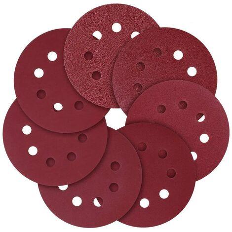 """SOEKAVIA Disque de Ponçage,5""""(125mm) 8 trous papier abrasif à grains assortis 40/80/120/240/320/600/800 (70 pièces)…"""