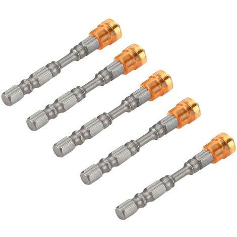 SOEKAVIA Embouts de tournevis 5Pcs S2 acier magnétique tête cruciforme PH2 tournevis ensemble pour vis à cloison sèche 1/4inch Shank(Jaune)