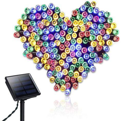 SOEKAVIA Etanche Guirlande solaire 22 m 200 LED Guirlande lumineuse 8 modes d'éclairage Guirlande lumineuse pour extérieur Jardin