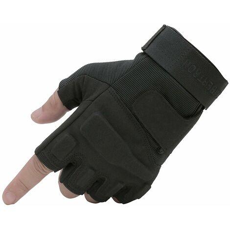 """main image of """"SOEKAVIA Femmes hommes S.O.L.A.G gants tactiques 1/2 doigt armée de combat militaire demi-doigt pour Airsoft militaire Paintball tir et autres activités de plein air gants(XL)"""""""