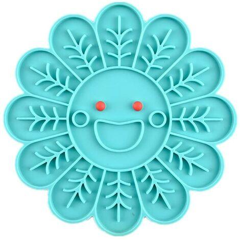SOEKAVIA Gamelle Anti Glouton Chien Gamelle pour Chat Interactive Chien Mangeoires Puzzle Bols pour Chiens Chargeur Lent Bol pour Animaux De Compagnie ,Blue