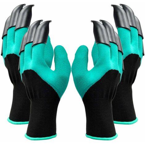 SOEKAVIA Gants de jardin de 2 paires, les deux griffes de main Gants de jardinage, rapides et faciles à creuser et usine, sans danger pour la taille pour des gants de femmes et d'hommes