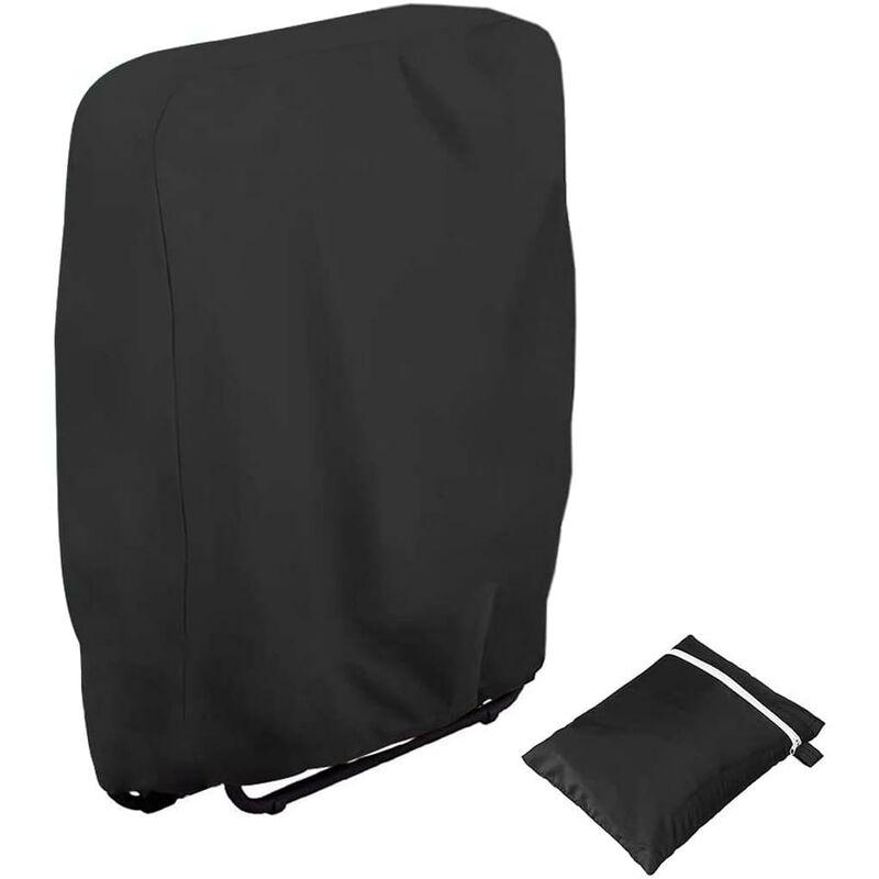 Housse de protection pour chaises de jardin résistante aux UV Résistant au vent pour meubles de jardin Deckchair Chaise longue pliable avec sac de