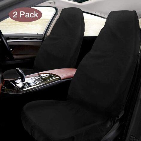 SOEKAVIA Housse de siège auto, 2 pièces housses de siège auto imperméables en tissu Oxford, protecteur d'atelier universel pour sièges avant, siège conducteur, 130 x 55 cm