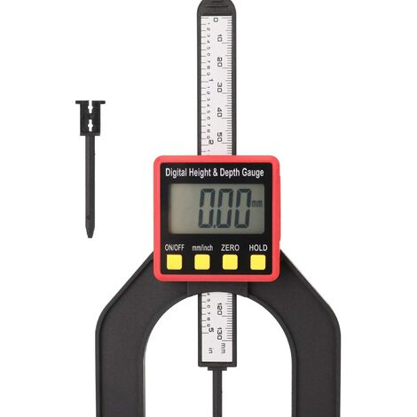 SOEKAVIA Jauge de Profondeur, 0-80mm 0.01mm 60mm Ouverture, LCD Jauge de Profondeur Altimètre Règle de Travail du Bois Outil d'étrier Numérique Outils de Mesure de Travail du Bois avec Pied Magnétique
