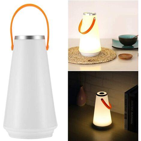 SOEKAVIA Lampe de table de nuit sans fil LED à la maison USB Interrupteur tactile rechargeable Commutateur de lumière pour camping extérieur