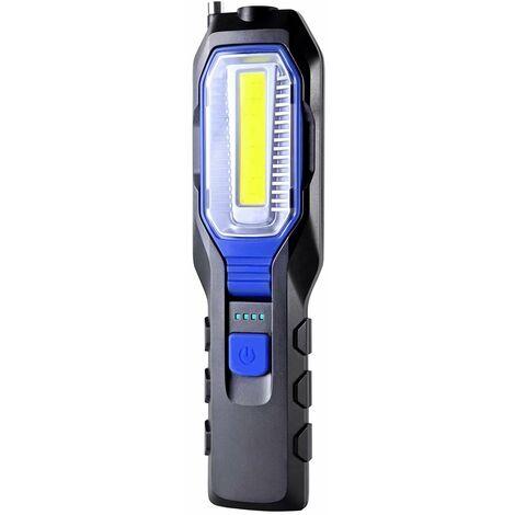 """main image of """"SOEKAVIA Lampe Mecanicien Led Rechargeable Lampe de Travail COB Portable Rechargeable USB 2800mAh Batterie, Lampe torche à LED avec aimant, crochet et câble de chargement 3 en 1"""""""
