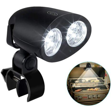 SOEKAVIA LED BBQ Lumières, 360 degrés Rotation Éclairage Réglable 10 LED BBQ de Gril, Touche Tactile Sensible Parfait résistance à la Chaleur étanche avec vis pour Le Barbecue extérieur