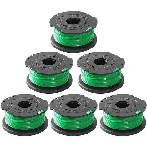 SOEKAVIA Ligne de bobine d'alimentation automatique de remplacement pour coupe-bordure SF-080 de 20 pieds 0,080 pouce compatible avec pour Black et Decker GH3000 LST540 LST540B GH3000R SF-080-BKP coupe-bordure (paquet de 6)
