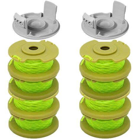 SOEKAVIA Ligne de bobine de remplacement de coupe-bordure de 11 pieds 0.080 pouces Compatible pour Ryobi O NE Plus AC80RL3 18v 24v 40v coupe-bordures sans fil, pièces de ligne de bobines de rechange à alimentation automatique de chaîne de mangeur de mauva