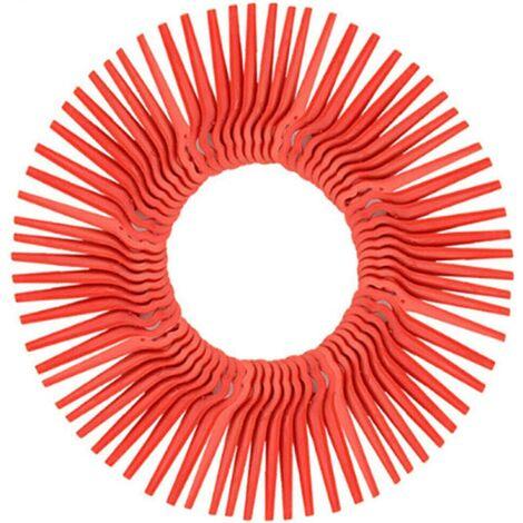 SOEKAVIA Lot de 100 Lames en Plastique de Rechange pour Coupe Bordure Florabest LIDL,Longueur 83mm (Rouge)