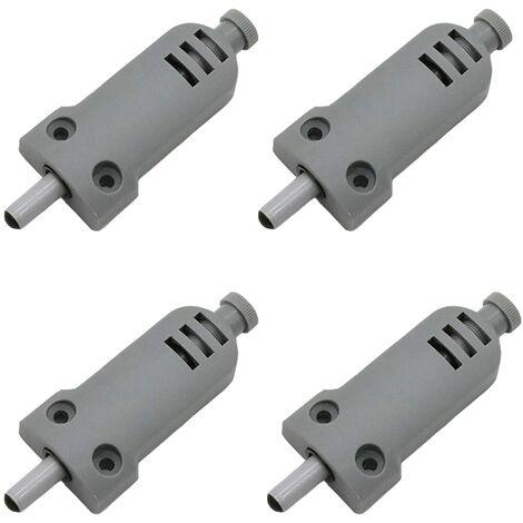 SOEKAVIA Lot de 4 amortisseurs de porte de meuble en plastique Touch Latch fermeture buffer pour portes d'armoire Case Drawer Charnière Push to Open System, anticollision, amortissement des chocs.