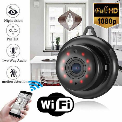 SOEKAVIA Mini caméra IP WIFI Caméra de sécurité WLAN Webcam Caméra de vision nocturne HD 1080P