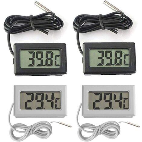 """main image of """"SOEKAVIA Mini Digital LCD Thermomètre Température -50~70 ℃ de Température Capteur Testeur pour Réfrigérateur Congélateurs Aquarium (2X Noir 2X Blanc)"""""""