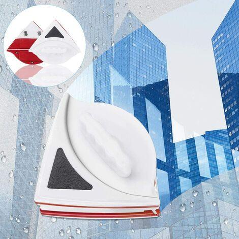 SOEKAVIA Nettoyant pour vitres double face, brosse de nettoyage magnétique pour vitres, nettoyant pour vitres double face avec corde anti-chute, essuie-glace adapté aux outils de verre ménagers Windows