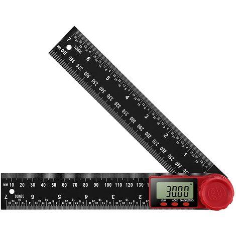 SOEKAVIA Rapporteur Numérique Règle D'Angle Numérique Goniomètre Numérique 360 ° avec Grand écran LCD Outil de Mesure de Règle (200mm)