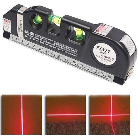 SOEKAVIA Règle de ruban laser - Ligne de mesure laser multifonctions BESTGIFT Ligne de mesure de règle laser Règle standard et métrique ajustée