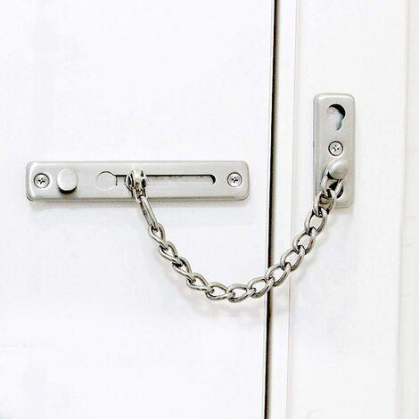 SOEKAVIA Sécurité Porte Chaîne Inoxydable Acier Moulage Porte Chaîne Garde Sécurité Fermer à clé Loquet, Porte Sécurité Chaîne, serrure de chaîne de porte
