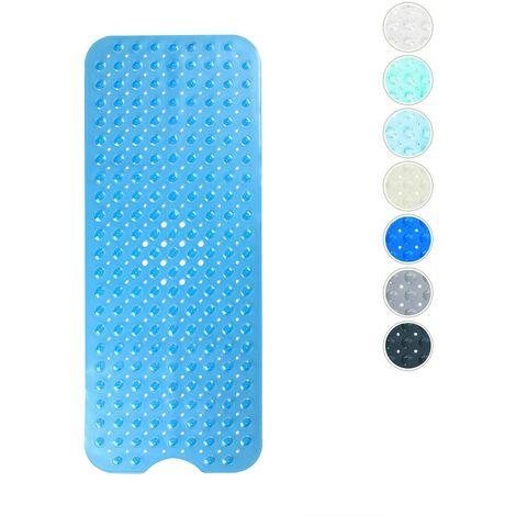 SOEKAVIA Tapis de bain, tapis de bain avec 200 ventouses Tapis de bain Tapis de douche antidérapant 100 x 40 cm (bleu transparent)